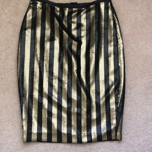 H&M Skirts - H&M black and gold sequin pencil skirt